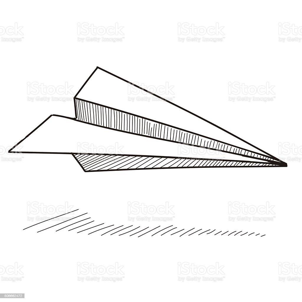Paper airplane vector art illustration