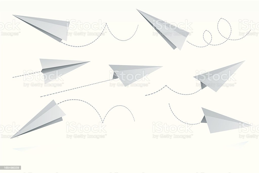 Paper Airplanes royalty-free stock vector art