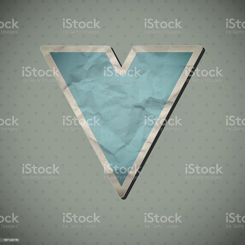 Paper alphabet. royalty-free stock vector art