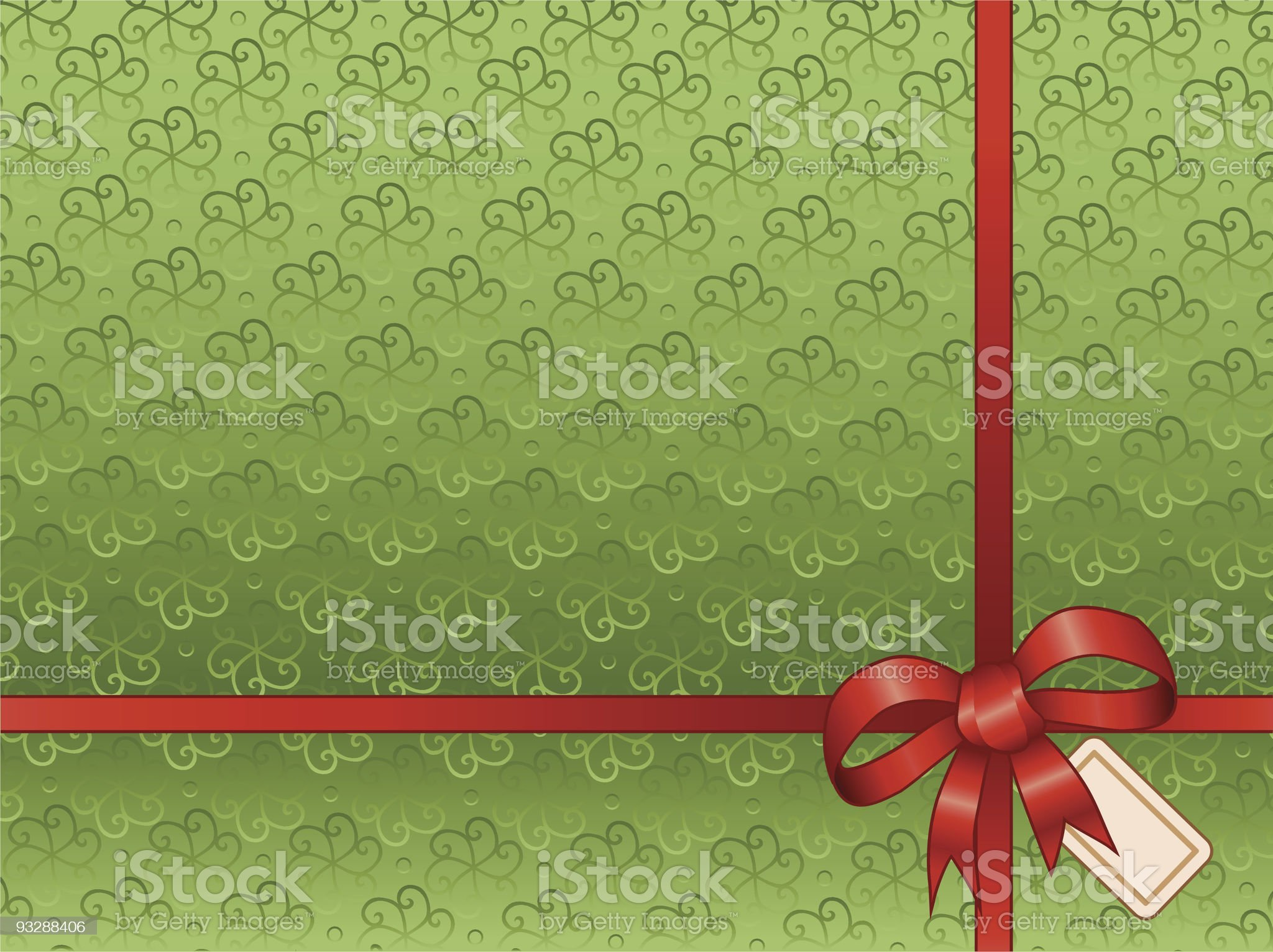 Paper and Bow royalty-free stock vector art