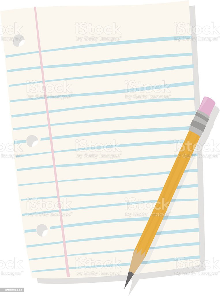 Paper and Pencil royalty-free stock vector art