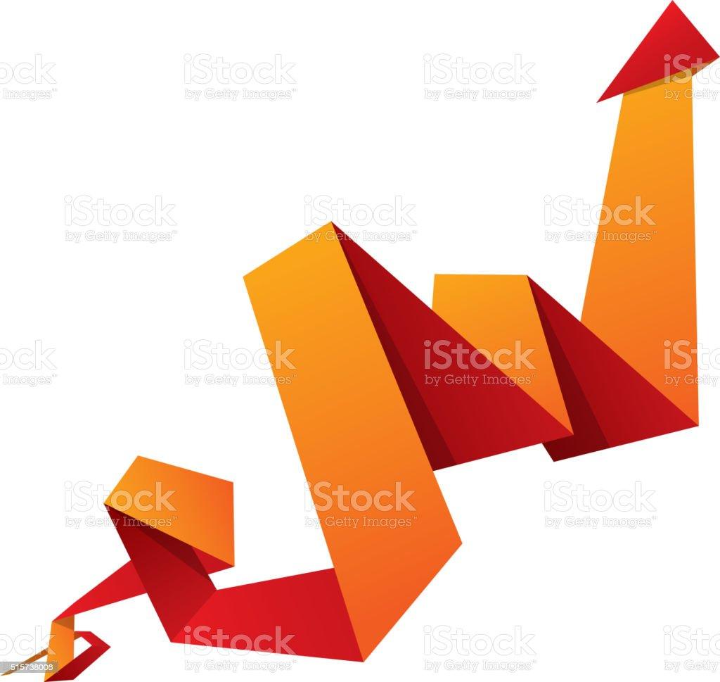 Paper arrow sign vector art illustration