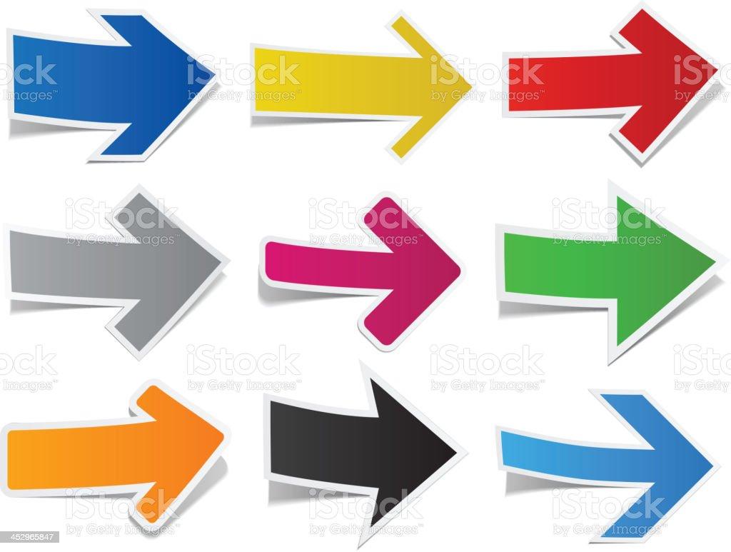Paper arrows. royalty-free stock vector art