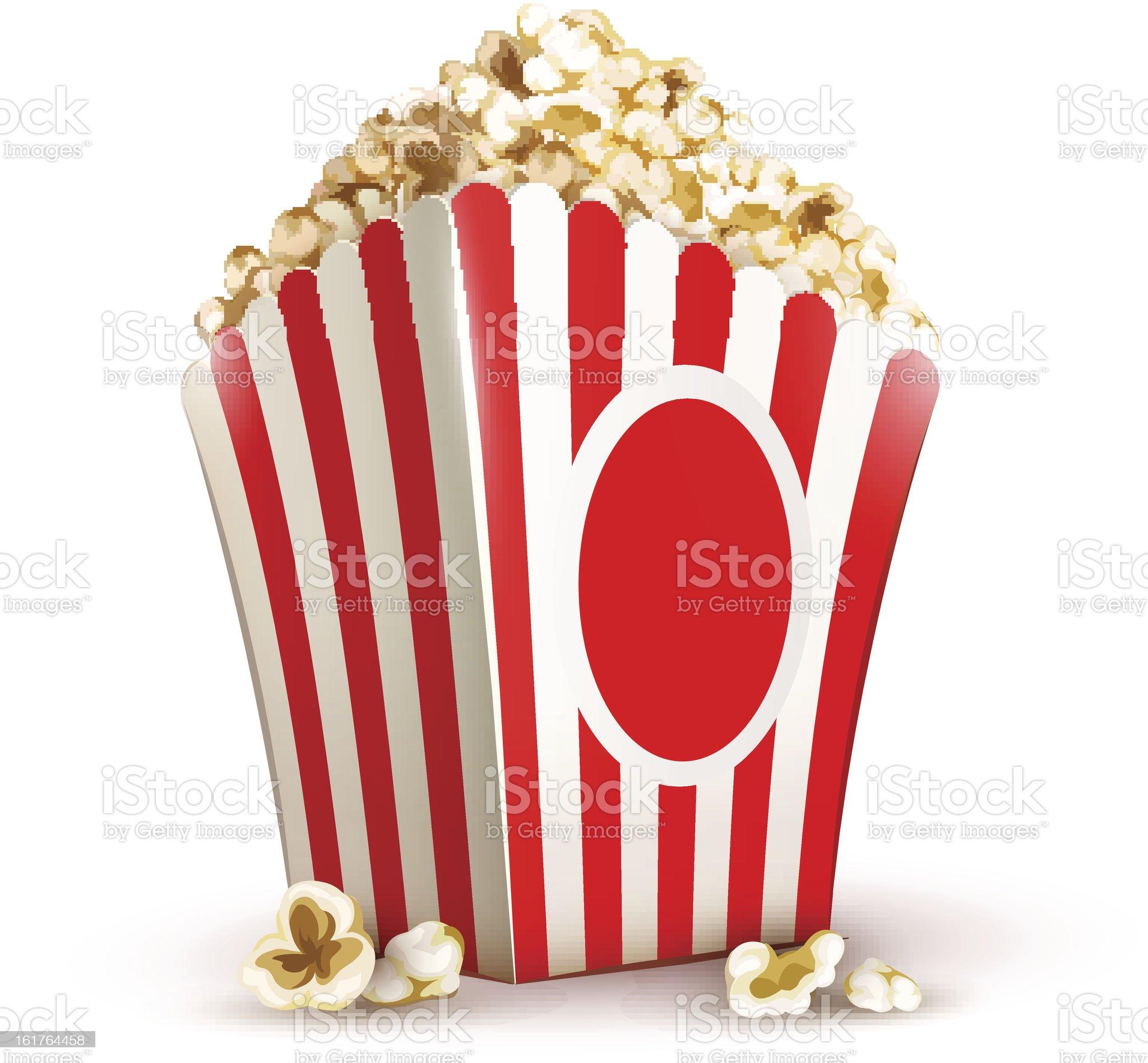 paper bag full of popcorn royalty-free stock vector art