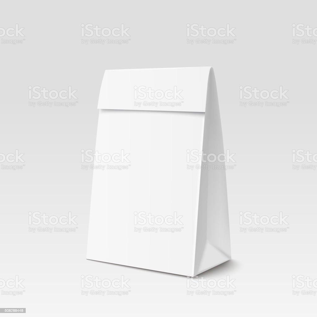Paper Bag Package for advertising and branding vector art illustration