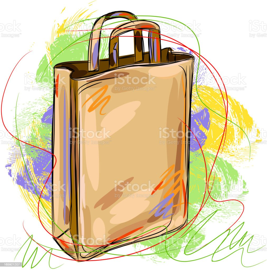 Paper Bag royalty-free stock vector art