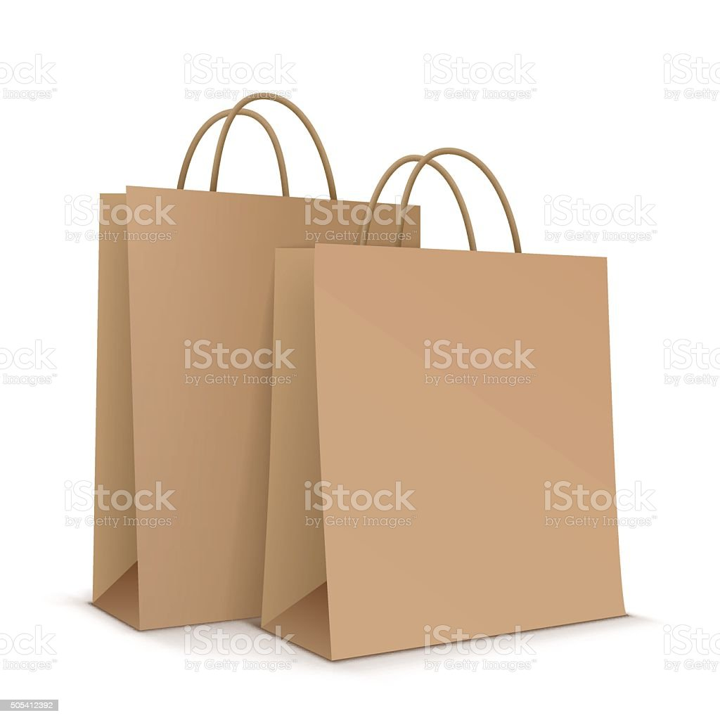 Paper bags. Vector Illustration vector art illustration