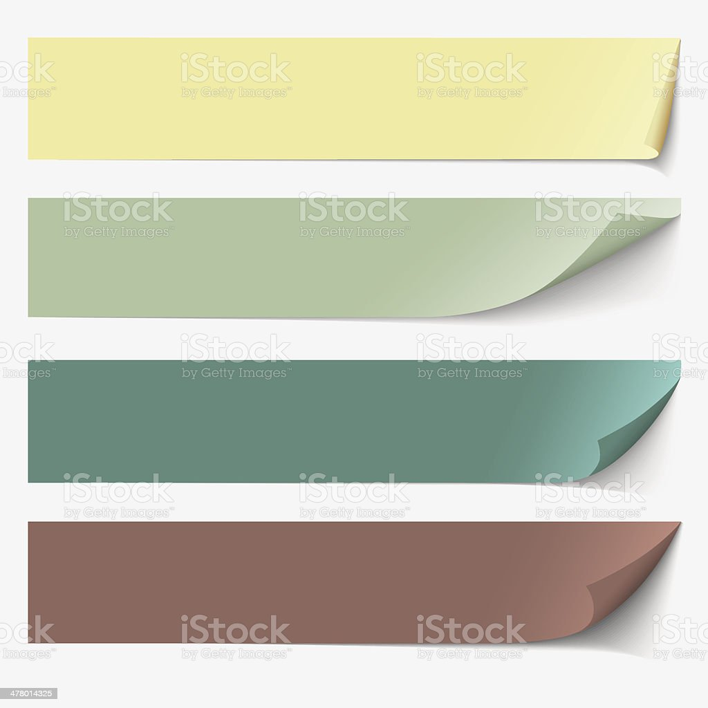 Paper banners for text royalty-free stock vector art