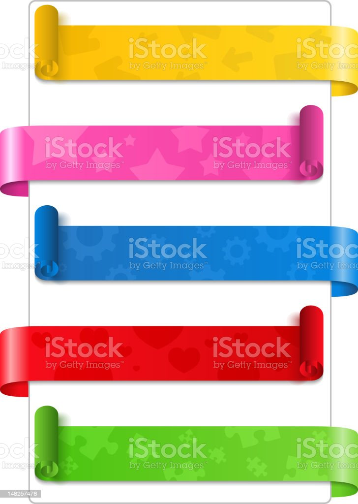 Paper Banners royalty-free stock vector art