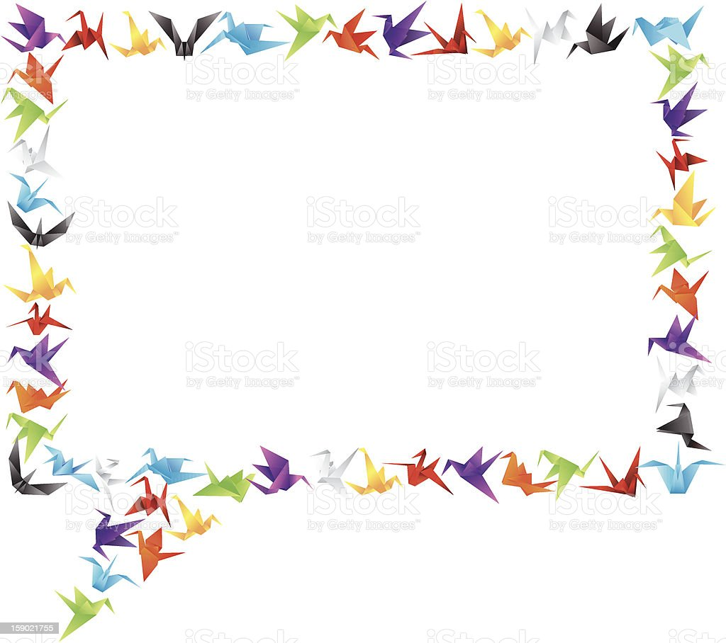 paper bird call-out stock photo