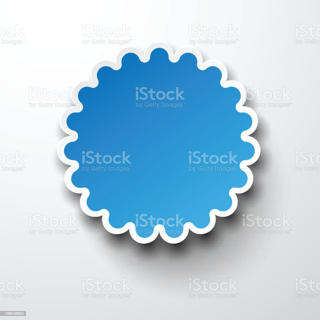 Paper blue round flower note. royalty-free stock vector art
