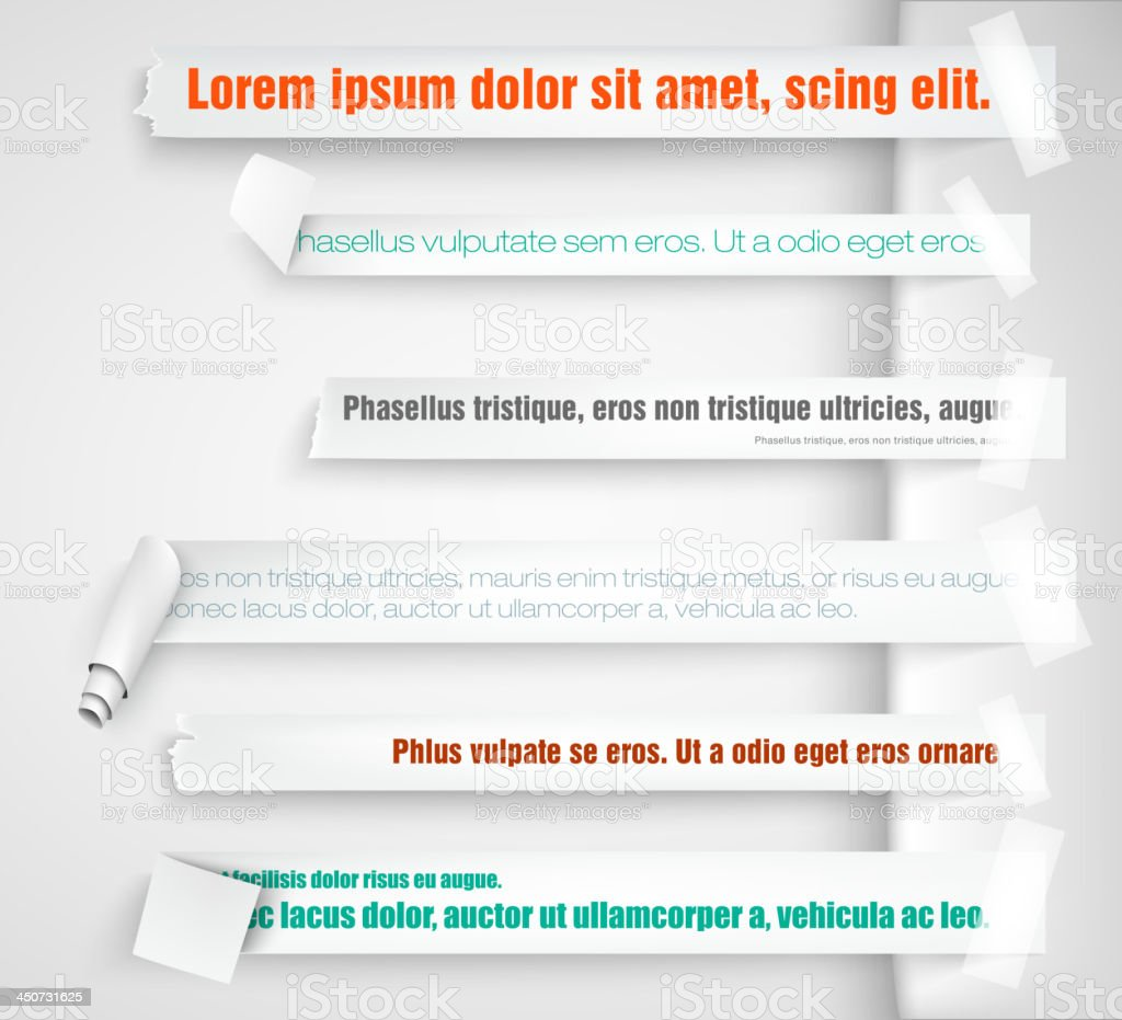 paper bookmarks vector art illustration