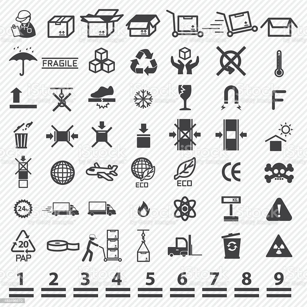 Paper box icons set. illustration eps10 vector art illustration