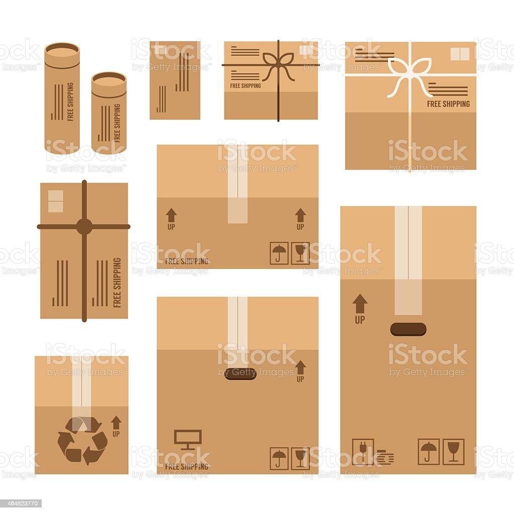 paper boxes set product package mockup design,vector vector art illustration