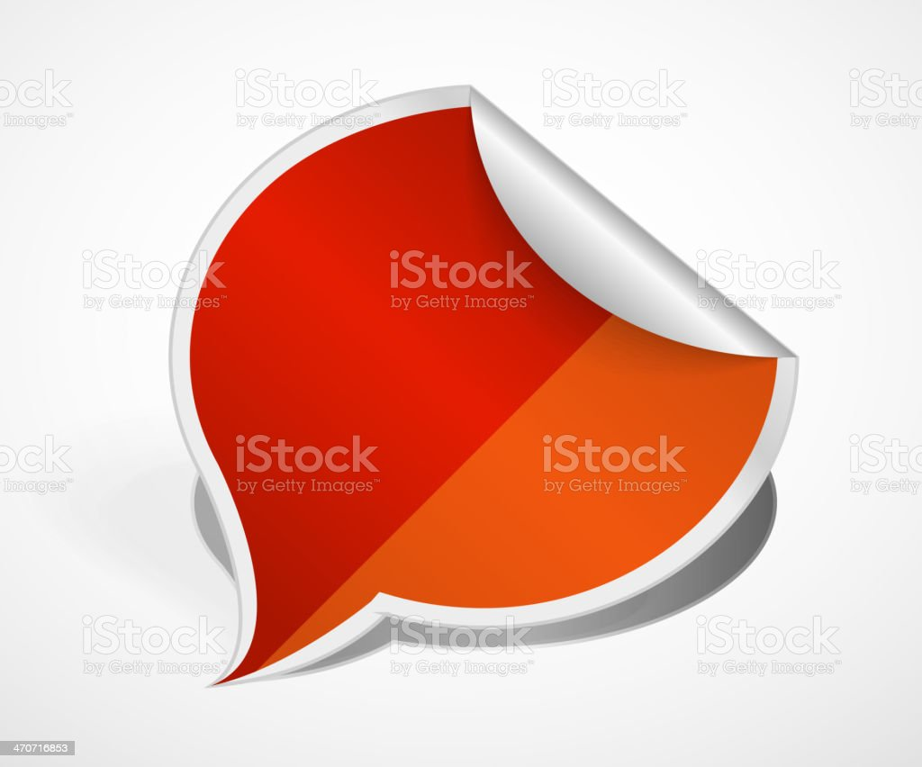 Paper bubble. Vector label icon royalty-free stock vector art