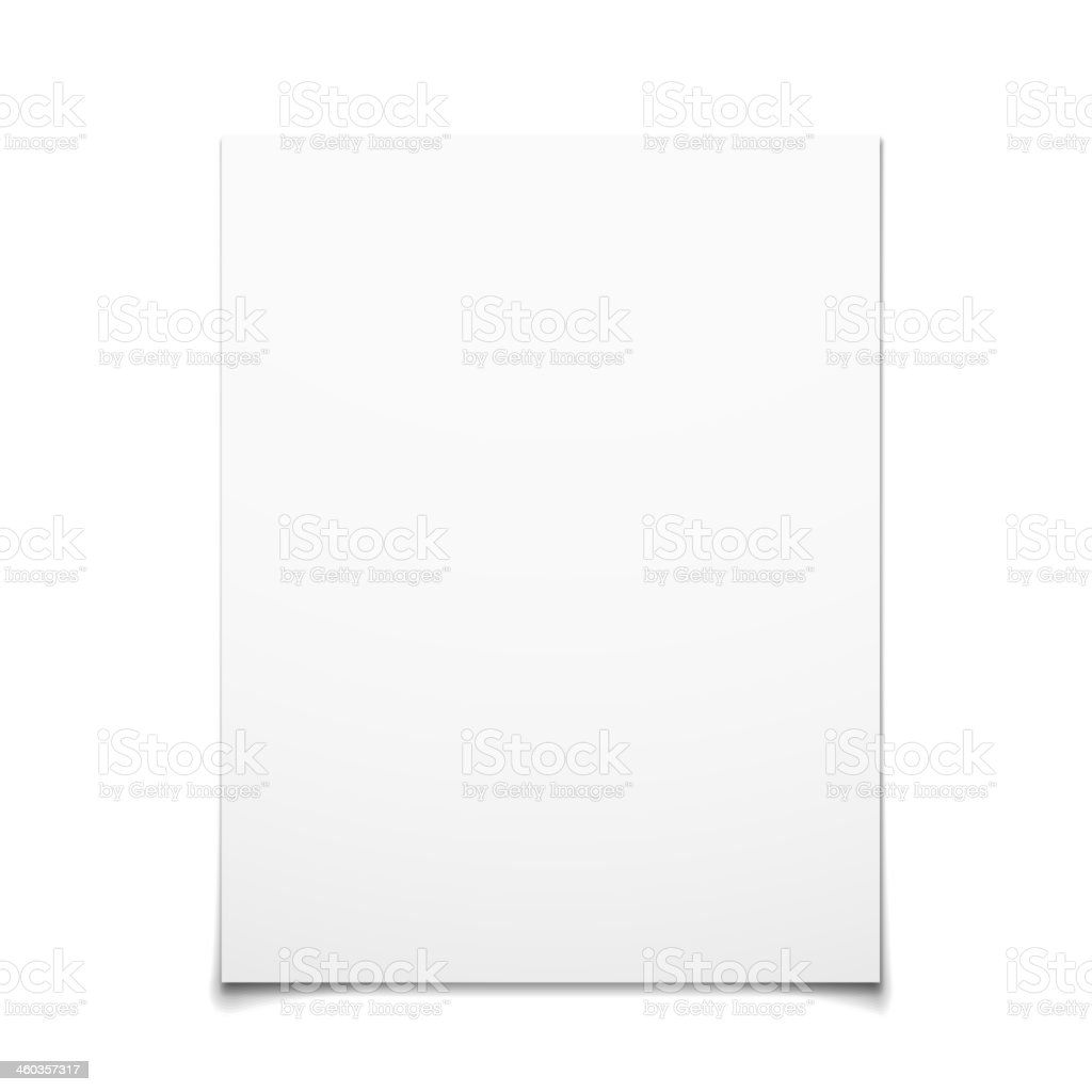 Paper Card Isolated On White Background vector art illustration