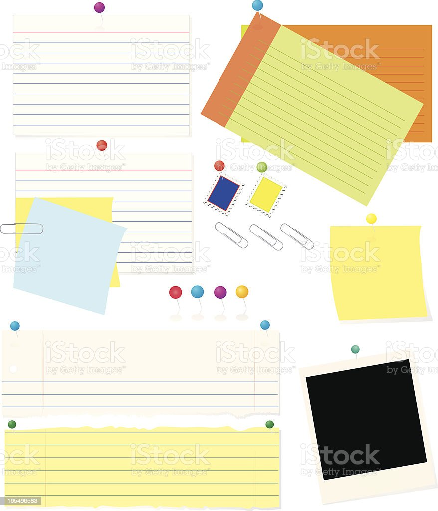 Paper, Cards, and More vector art illustration