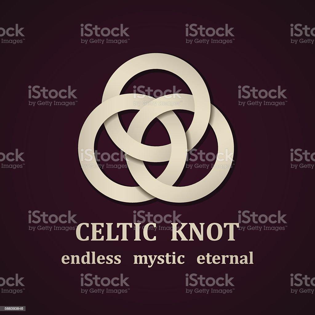 paper celtic knot symbol design template vector art illustration