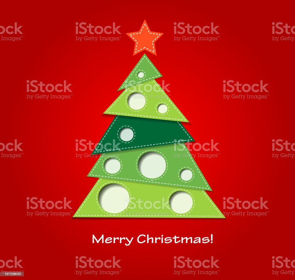 Paper Christmas tree royalty-free stock vector art