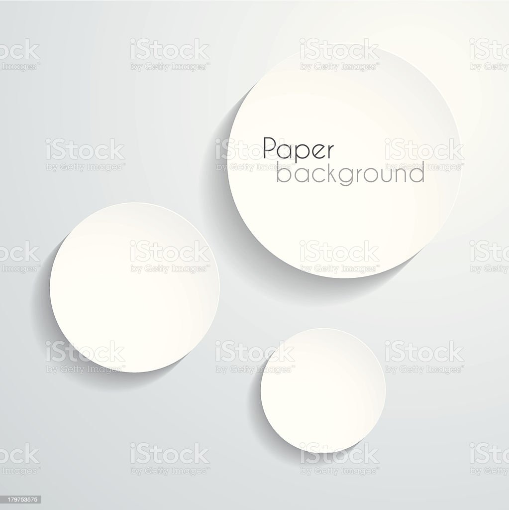 Paper circle background vector art illustration