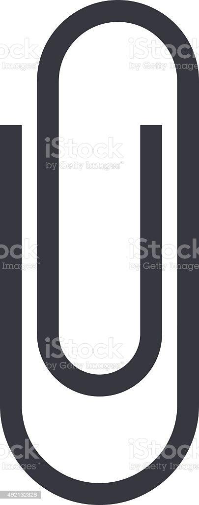 Paper clip icon, minimal flat design style, vector illustration vector art illustration