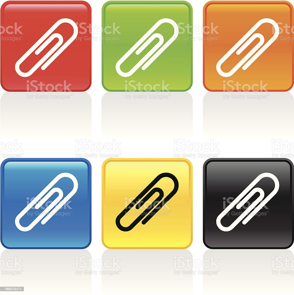 Paper Clip Icon royalty-free stock vector art