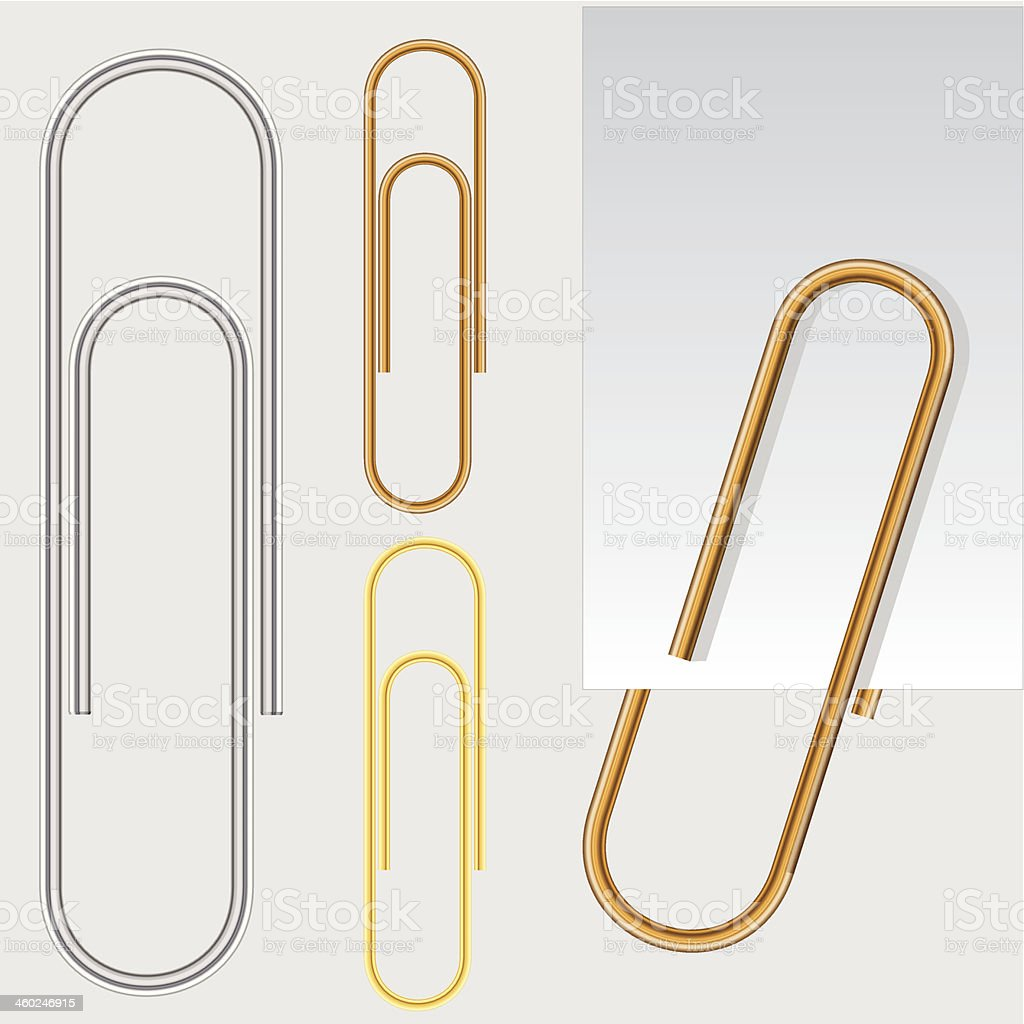 Paper clip, vector eps10 illustration vector art illustration
