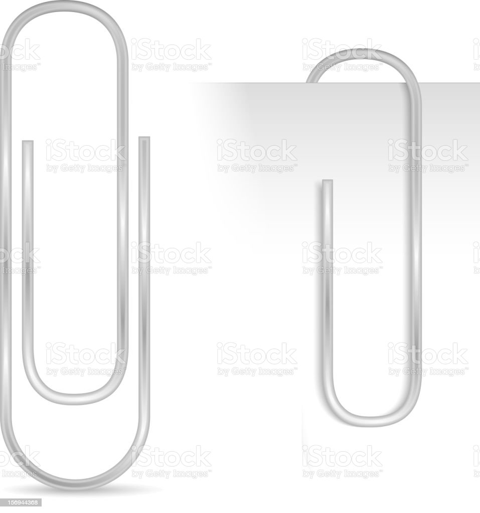 Paper clip vector art illustration