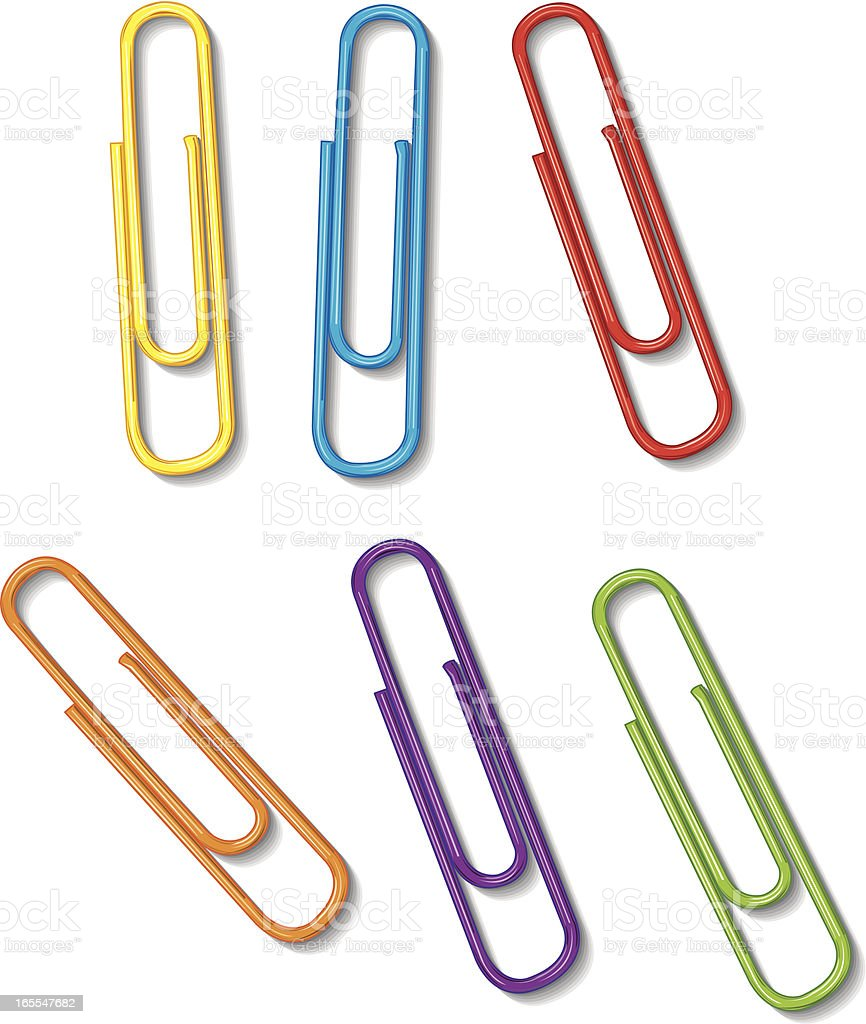 Paper Clips - Office Supply royalty-free stock vector art