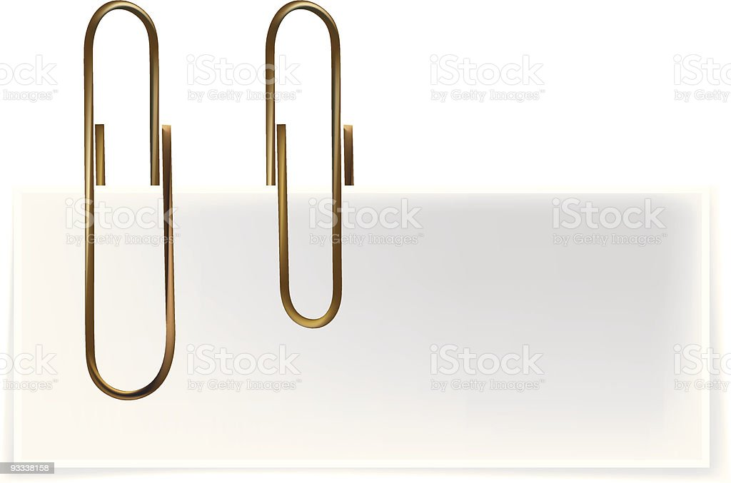 Paper Clips royalty-free stock vector art