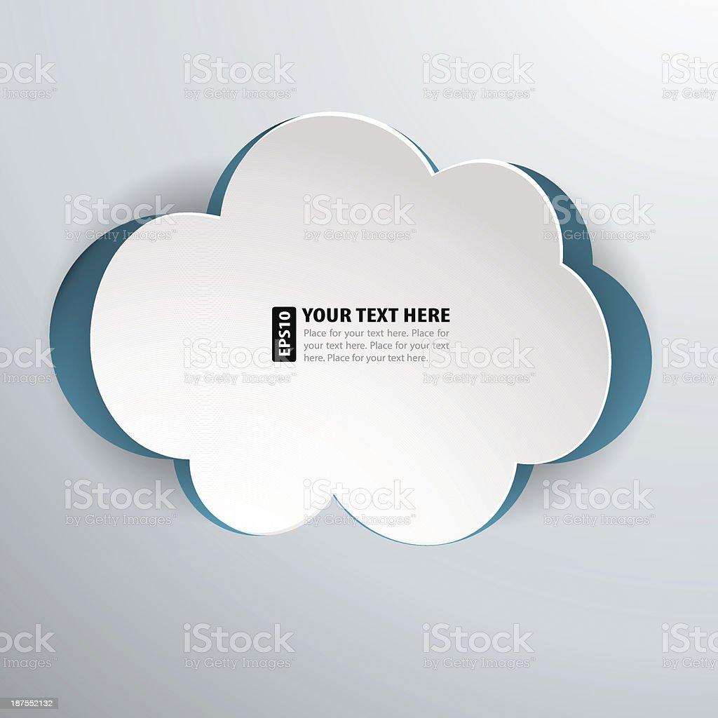 Paper Cloud royalty-free stock vector art