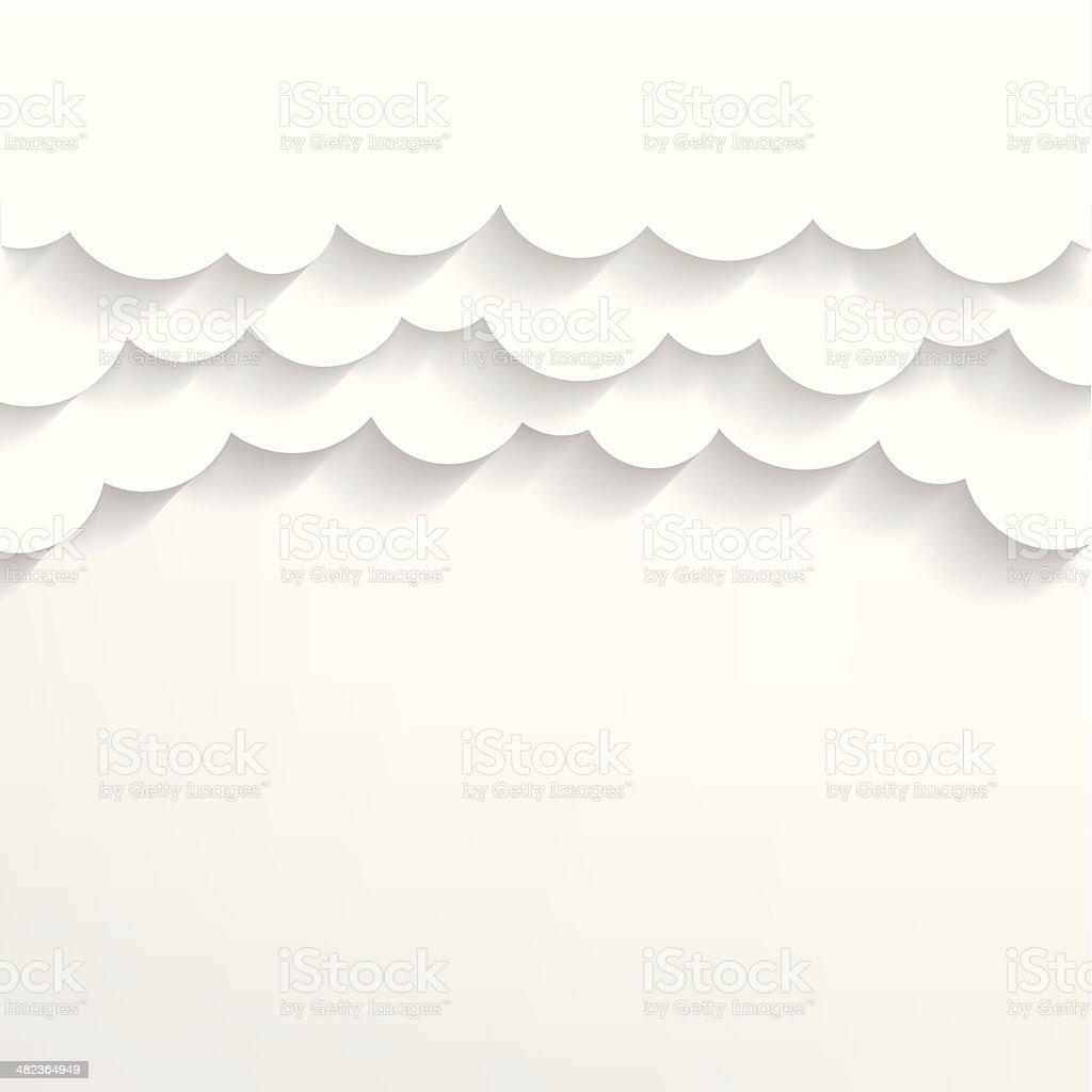 Paper clouds Background vector art illustration