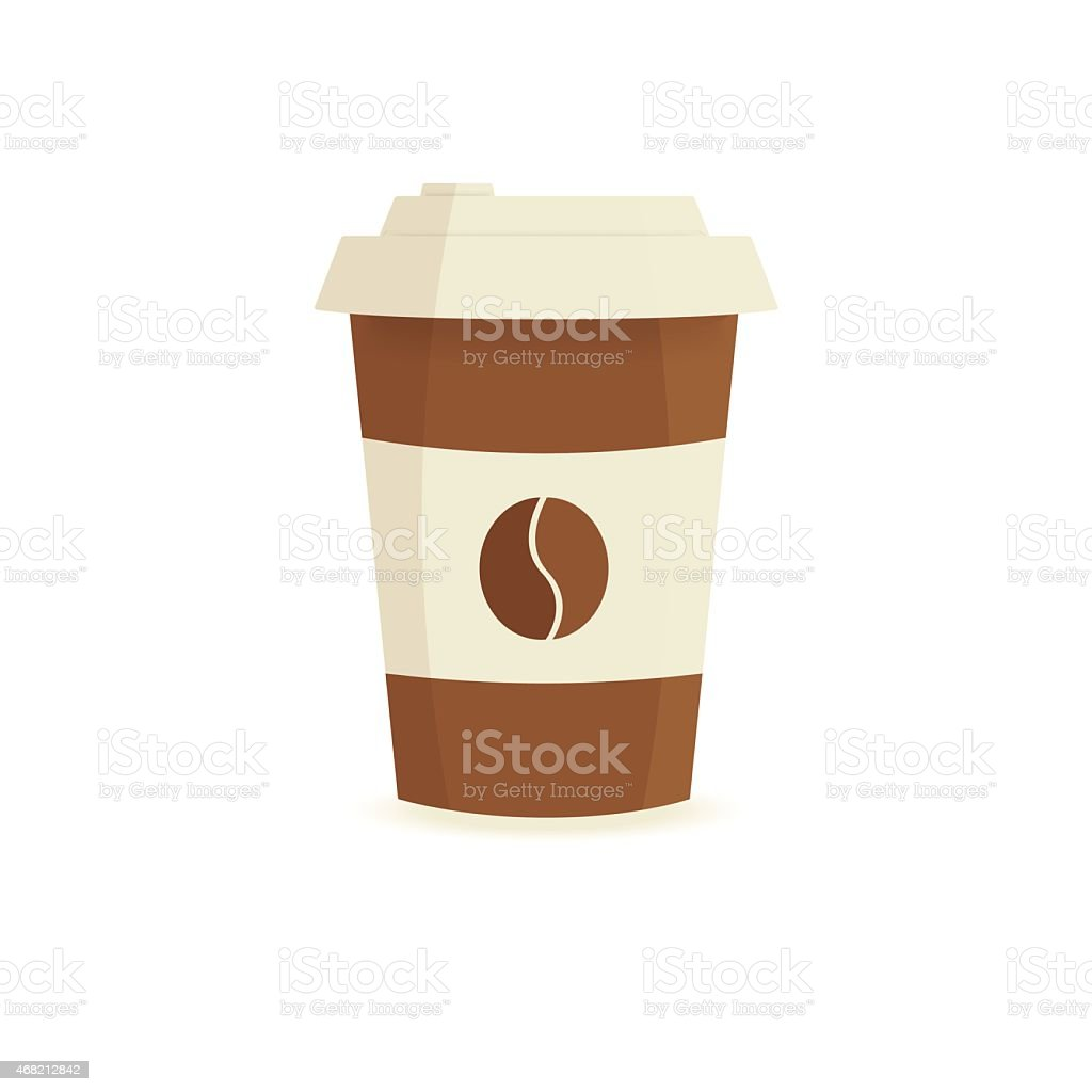 Simple Paper Coffee Cup Vector On A White Background Royaltyfree Stock Art To Decorating