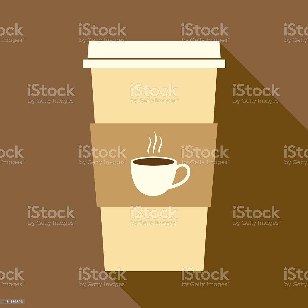Paper Coffee Cup vector art illustration