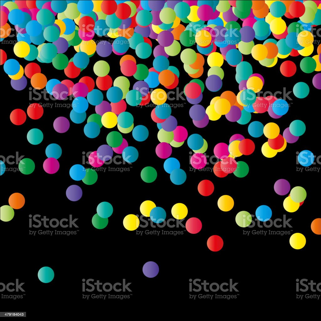 Paper Confetti Color Background. royalty-free stock vector art