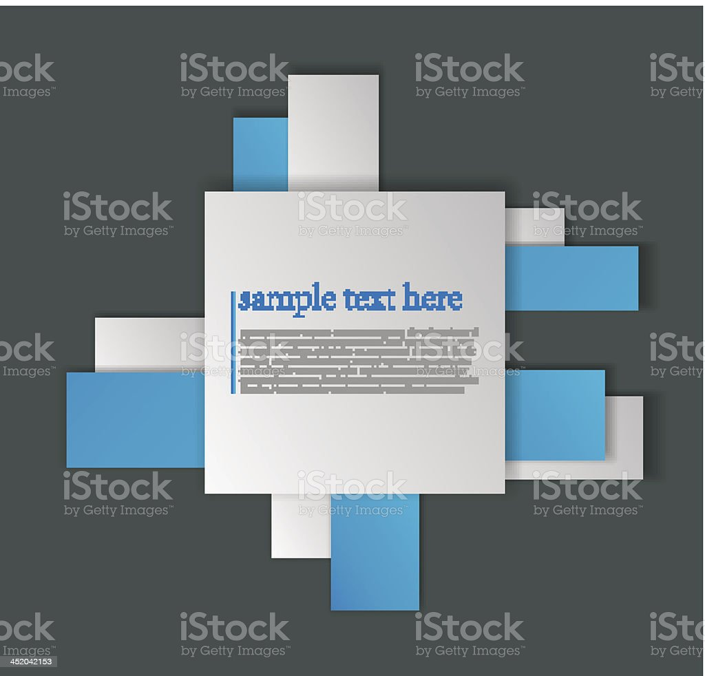 3D paper construction for sample text royalty-free stock vector art