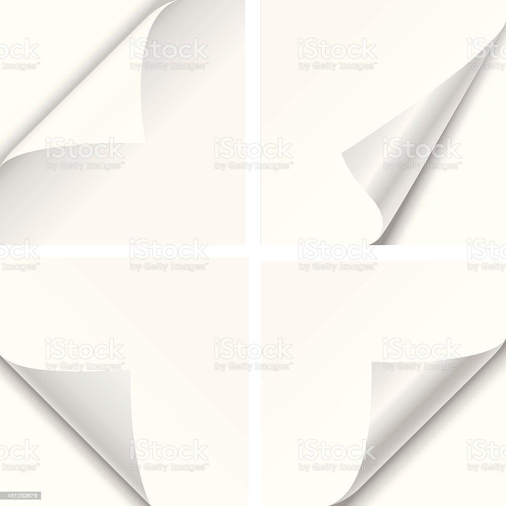 Paper Corner Folds vector art illustration