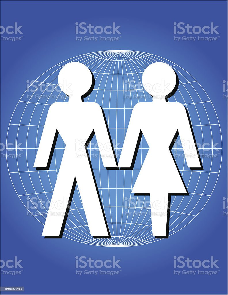 Paper Couple royalty-free stock vector art