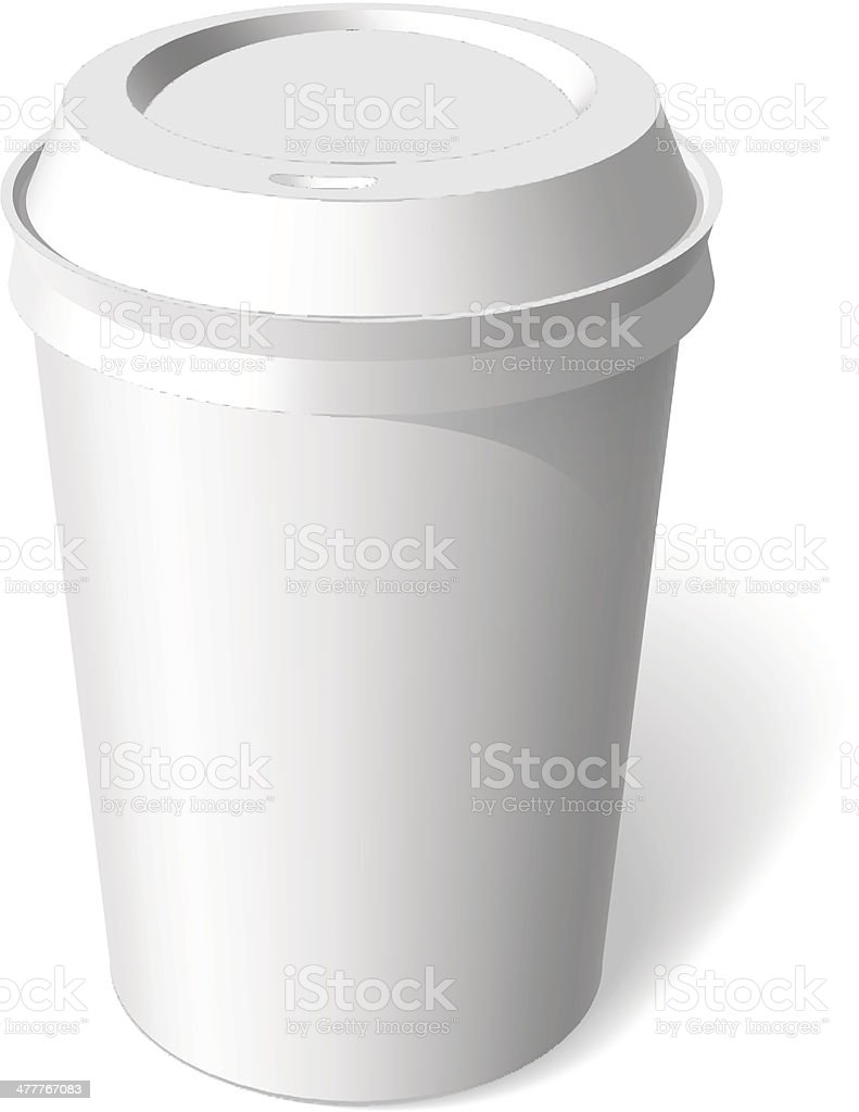 paper cup blank template vector royalty-free stock vector art