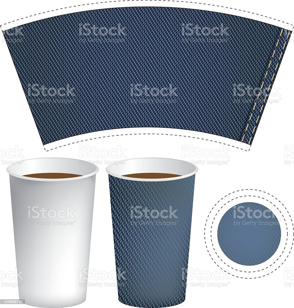 paper cup for hot drink vector art illustration