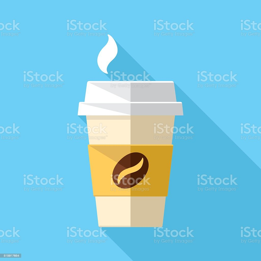 Paper Cup Icon vector art illustration
