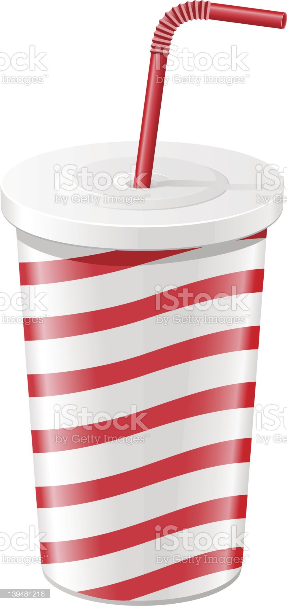 paper cup with soda vector illustration royalty-free stock vector art