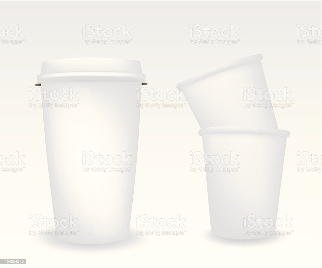 Paper cups illustration royalty-free stock vector art