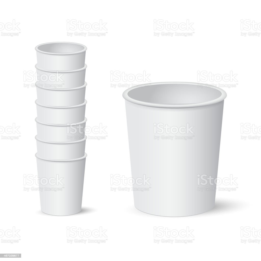 Paper cups vector art illustration