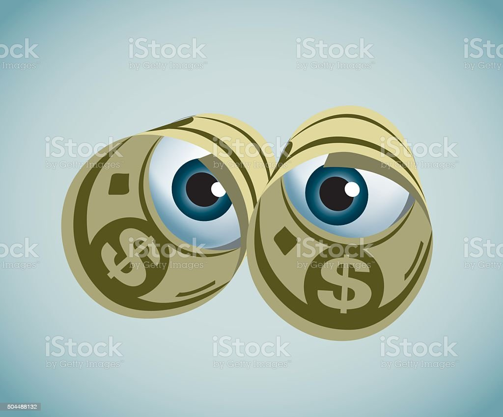 Paper Currency vector art illustration