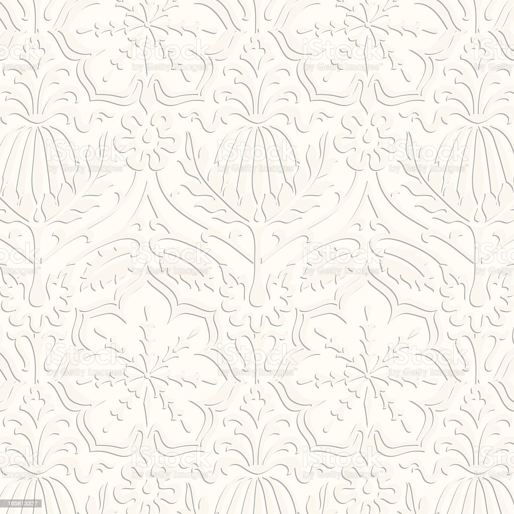 Paper Damask Pattern royalty-free stock vector art