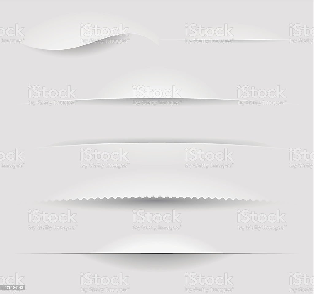 Paper dividers vector art illustration