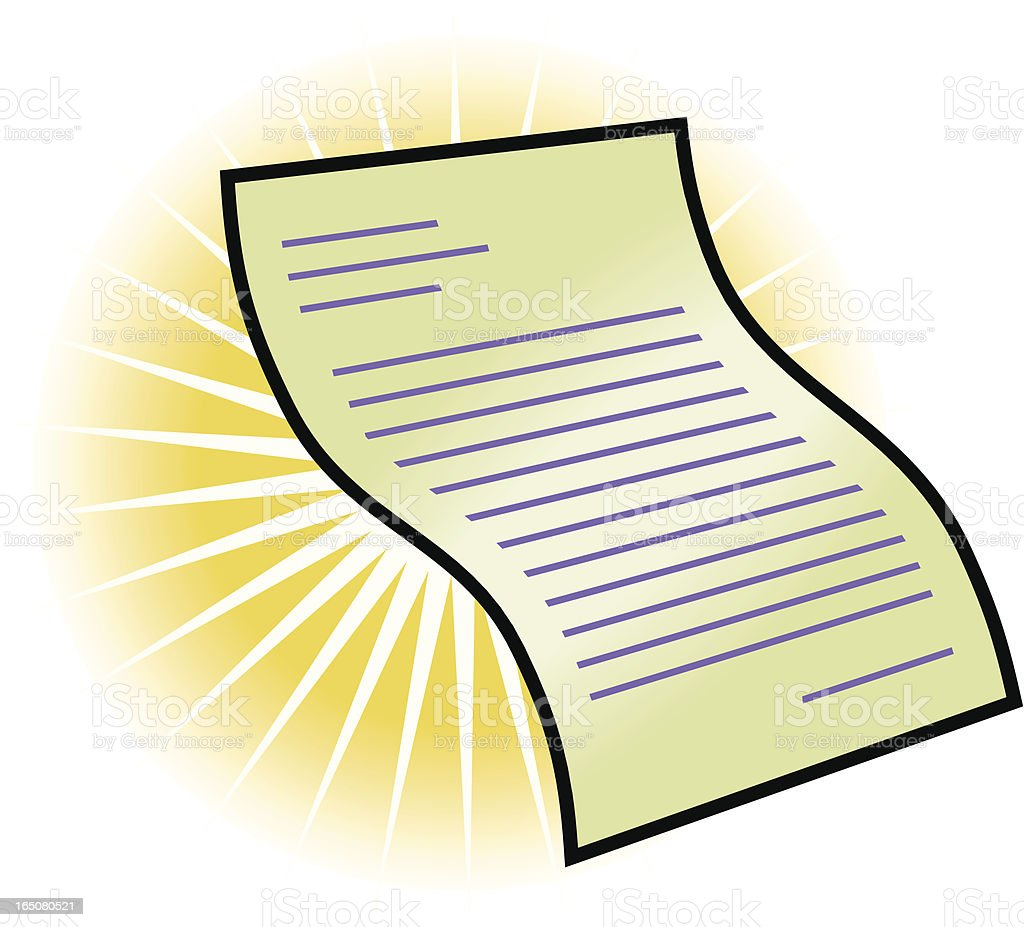 Paper document royalty-free stock vector art