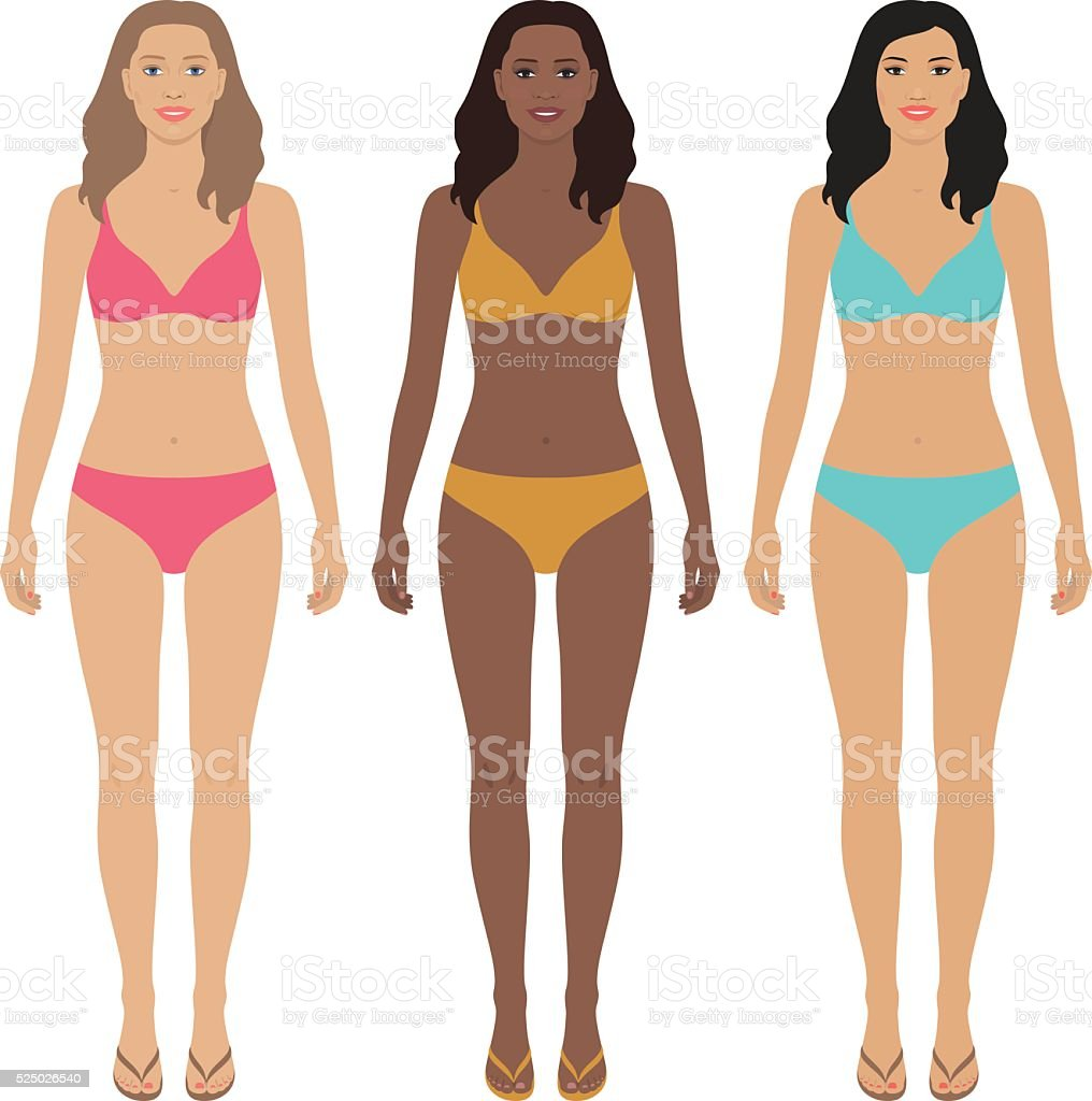 Paper dolls. vector art illustration