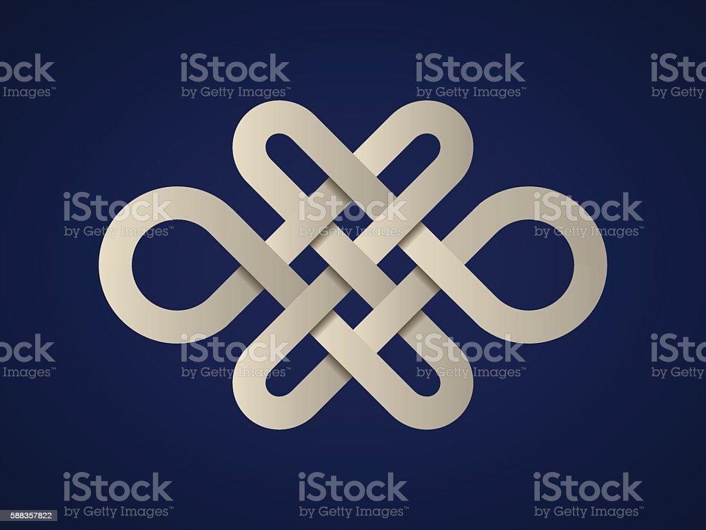 paper endless celtic knot vector art illustration